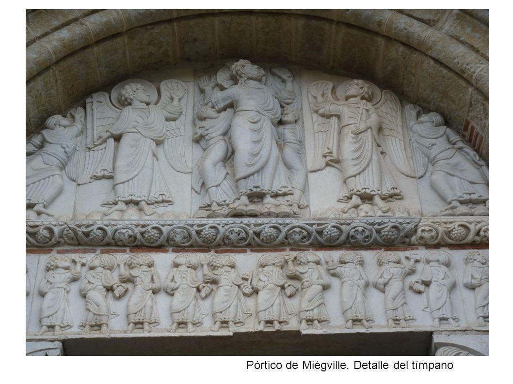 Pórtico de Miégville. Detalle del tímpano