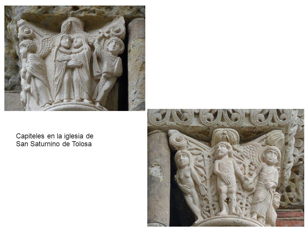 Capiteles en la iglesia de San Saturnino de Tolosa