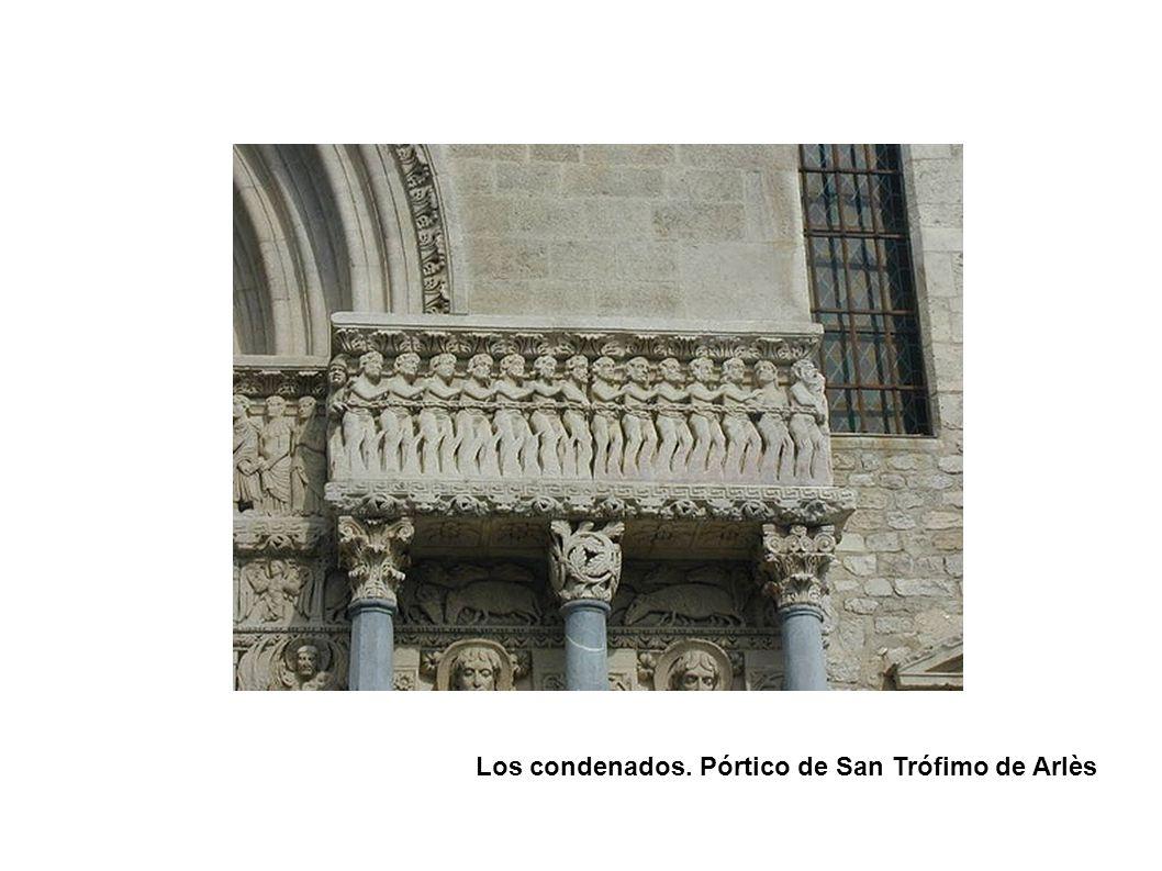 Los condenados. Pórtico de San Trófimo de Arlès
