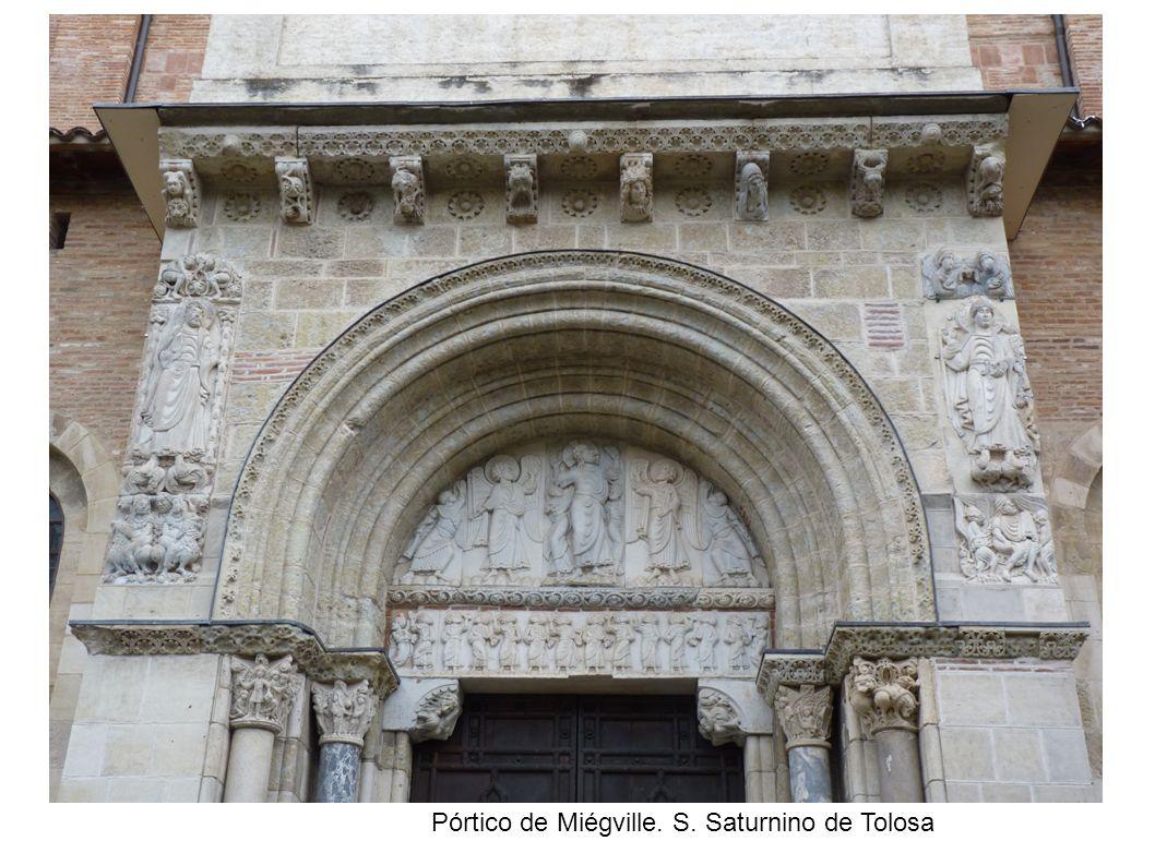 Pórtico de Miégville. S. Saturnino de Tolosa