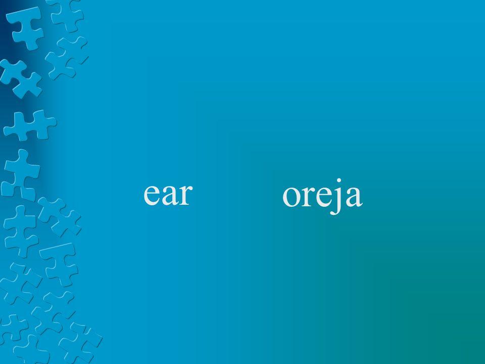 ear oreja