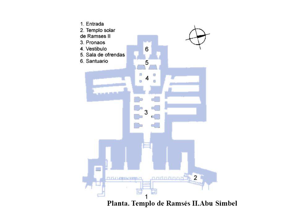 Planta. Templo de Ramsés II.Abu Simbel