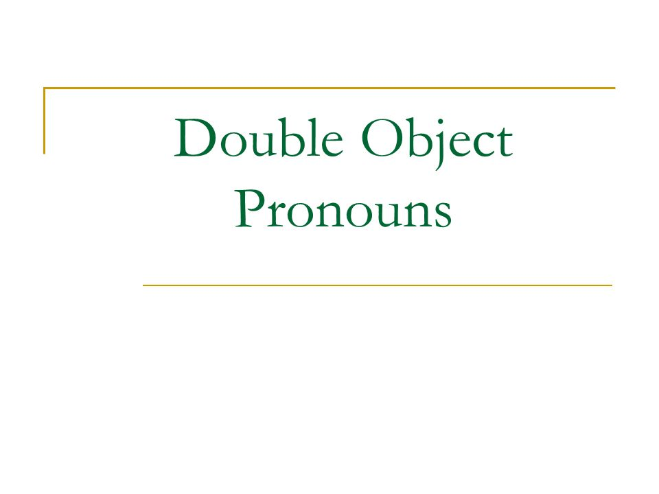 In both English and Spanish it is possible to have two object pronouns together (one direct and one indirect.) I give it to them.