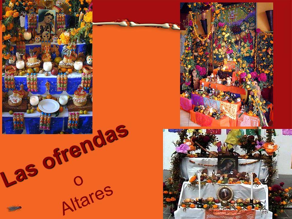 Las ofrendas o Altares