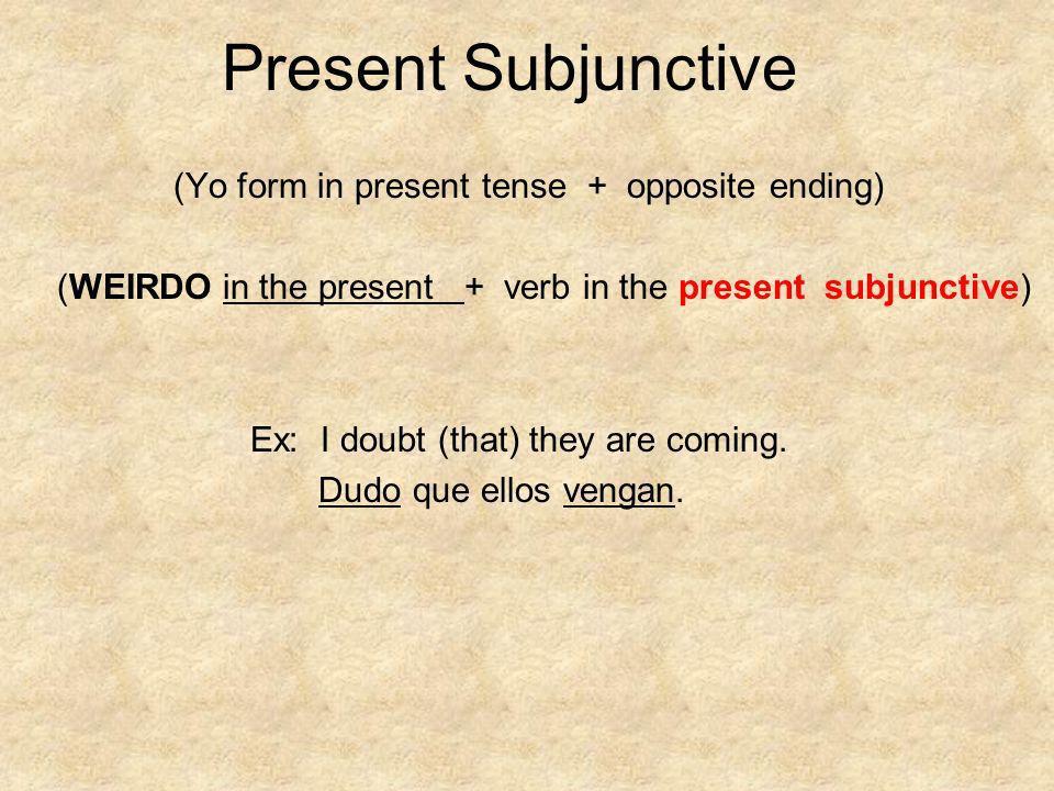 Subjunctive or Indicative .1. Espero que 2. Dudo que 3.