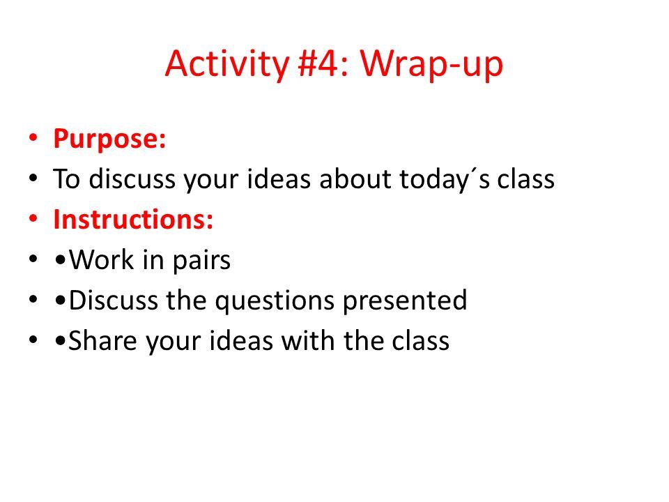 Activity # 3: Telephone Conversations