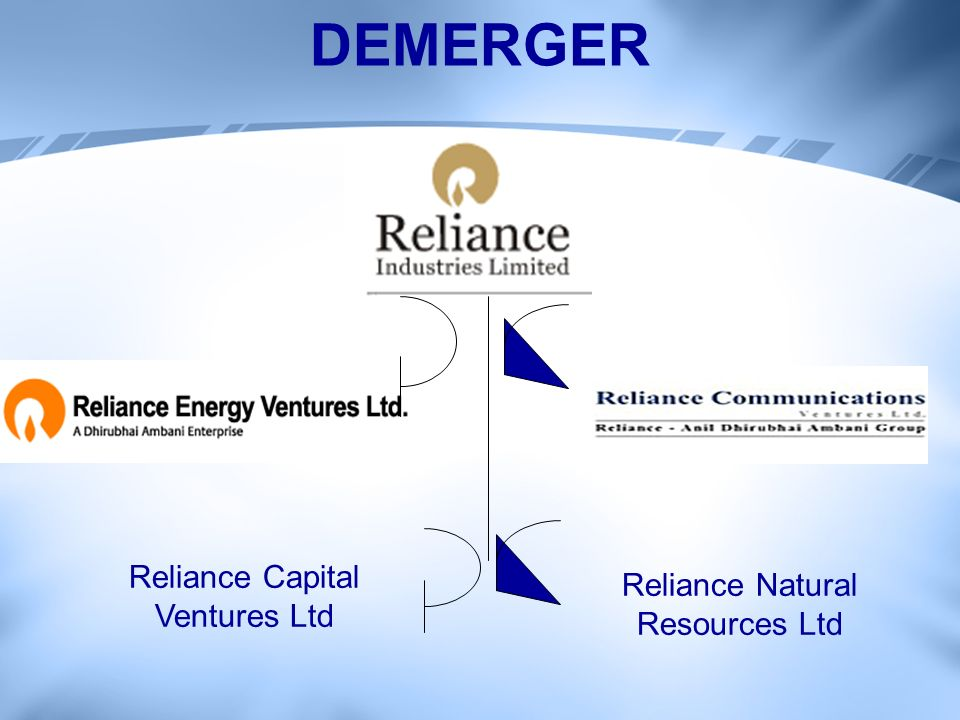 DEMERGER Reliance Natural Resources Ltd Reliance Capital Ventures Ltd