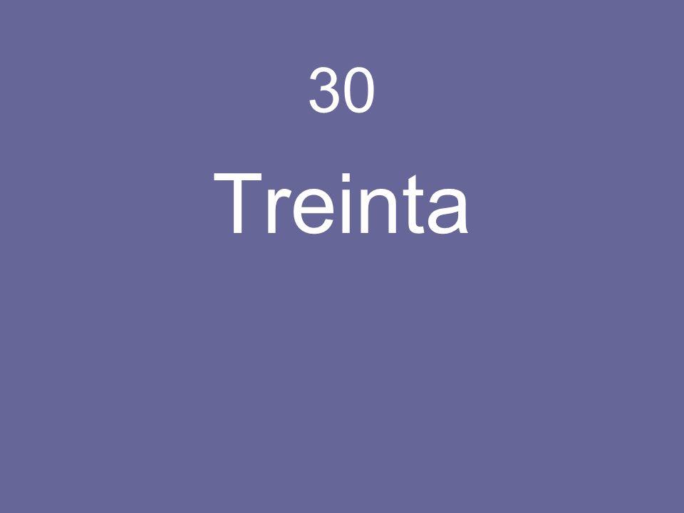 30 Treinta