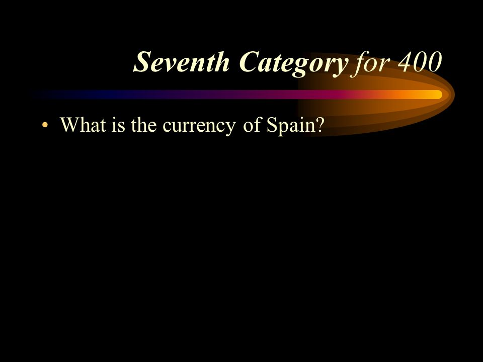 Answer to Seventh Category for 300 France, Andorra, Portugal, or Morocco.. Pick a Category