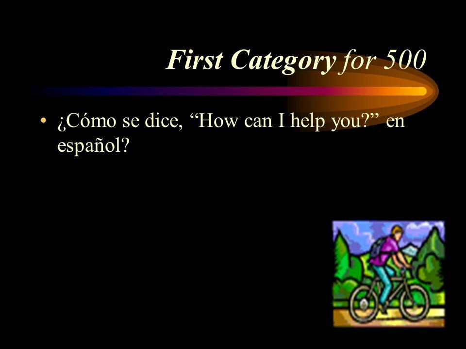 Answer for 400 El mercado al aire libre Pick a Category