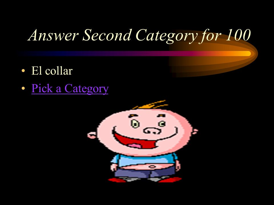 Second Category for 100 ¿Cómo se dice, necklace en español?./