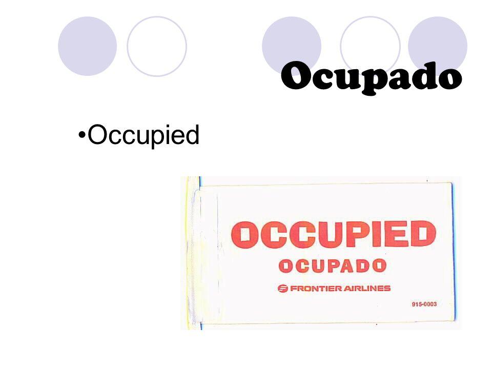 Ocupado Occupied