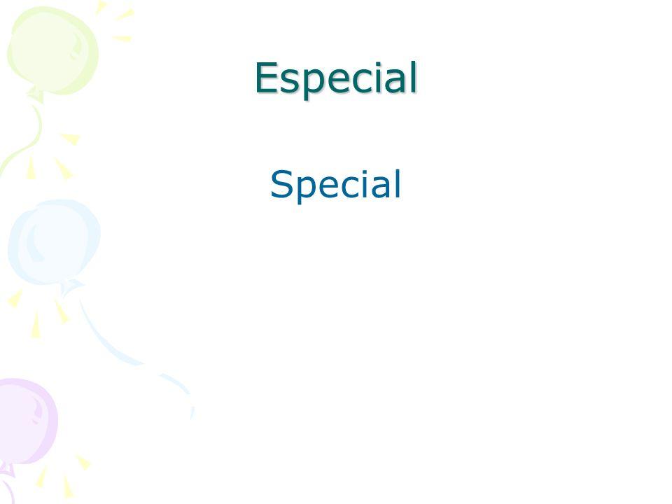 Especial Special