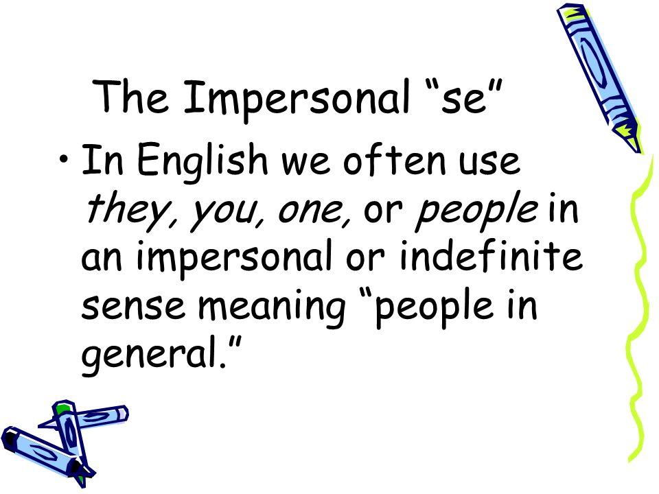 The Impersonal se Español 2 Capítulo 8 página 282