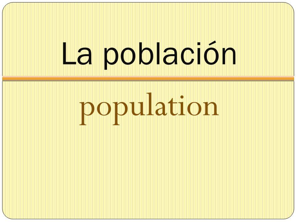 La población population