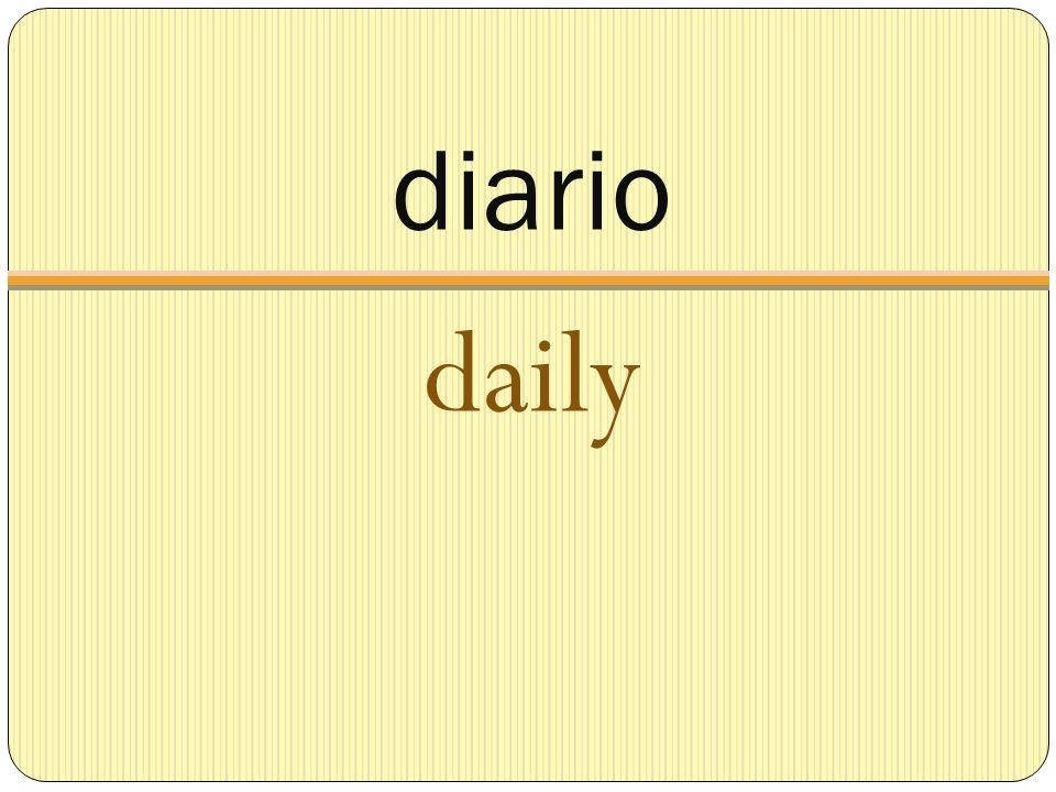 diario daily