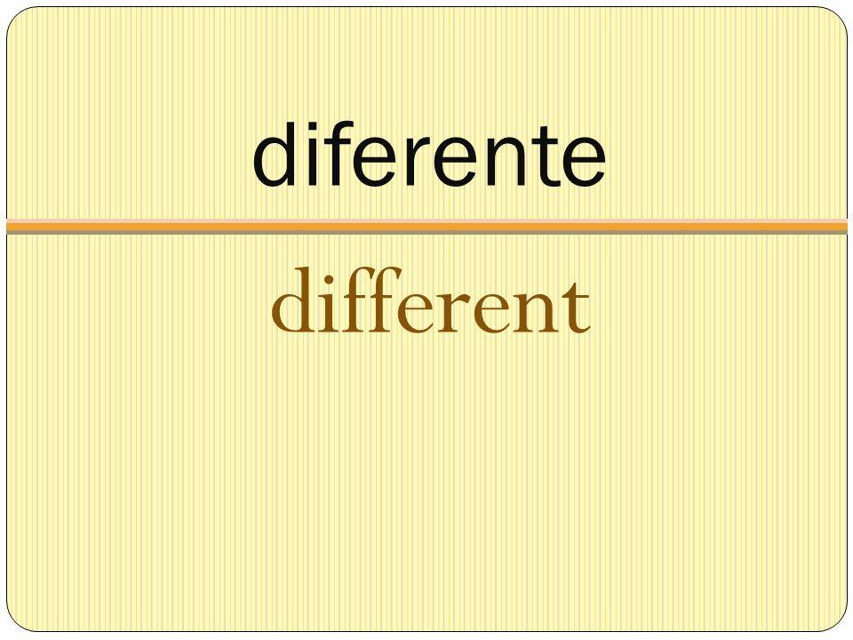 diferente different