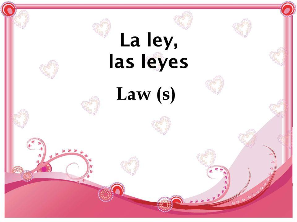 La ley, las leyes Law (s)