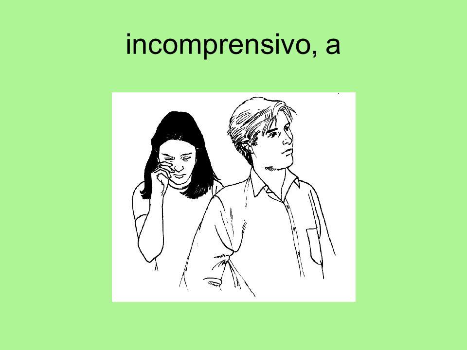 incomprensivo, a