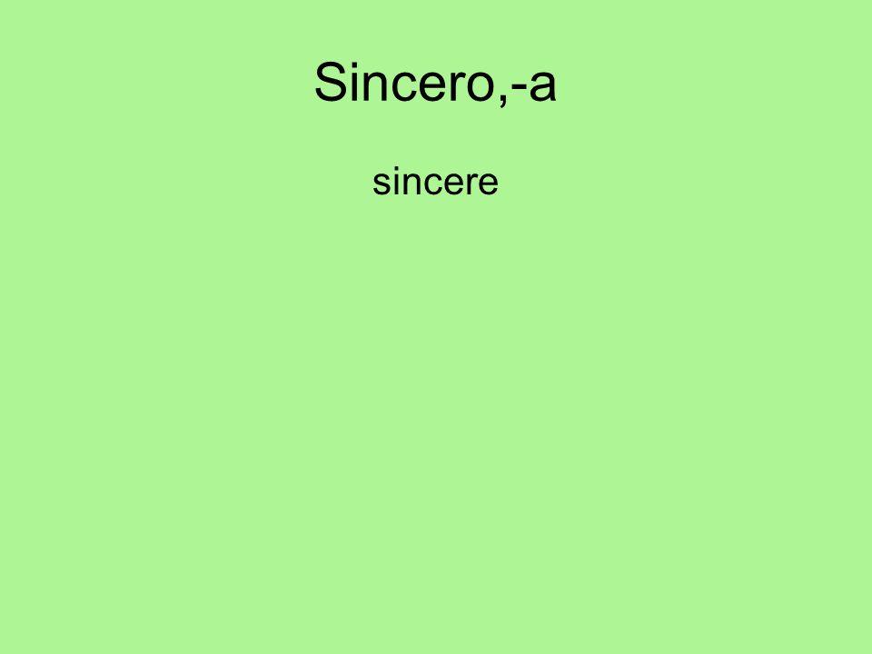 Sincero,-a sincere