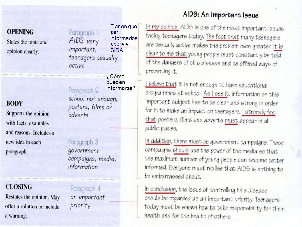 Tienen que ser informados sobre el SIDA ¿Cómo pueden informarse?