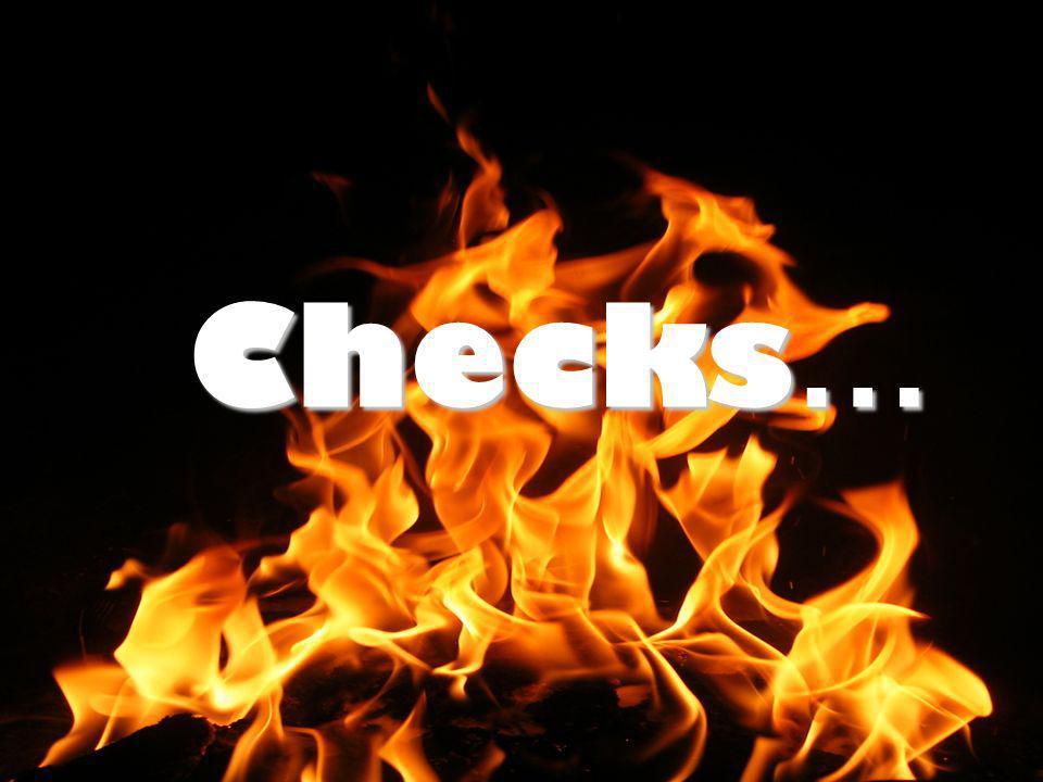 Checks …