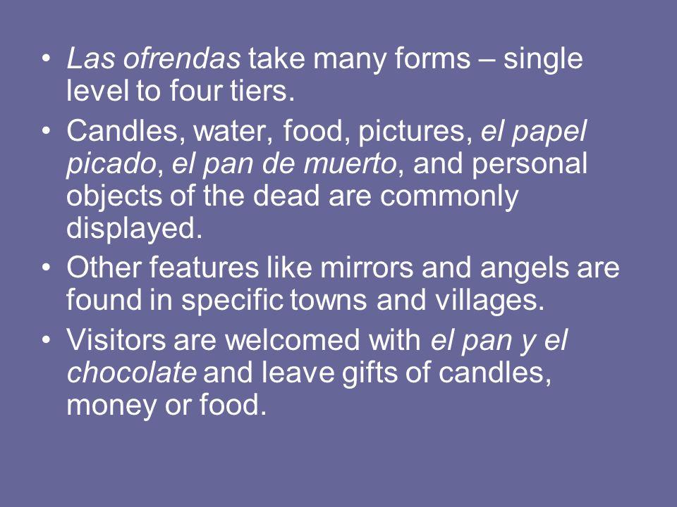 Las ofrendas take many forms – single level to four tiers.