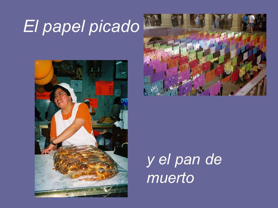 El papel picado y el pan de muerto