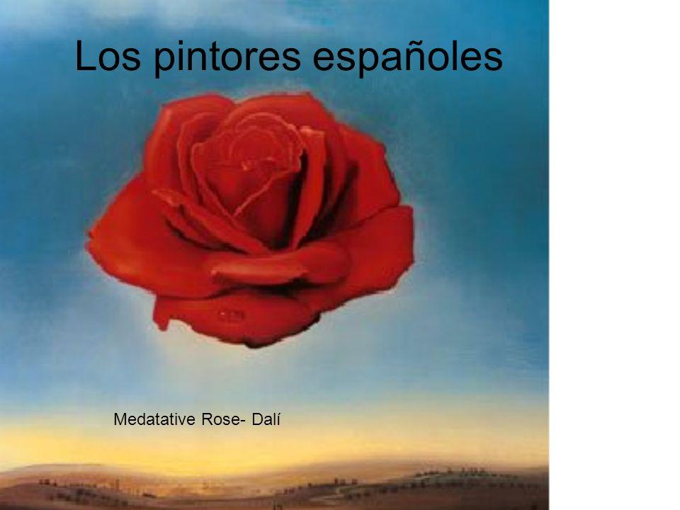 Los pintores españoles Medatative Rose- Dalí