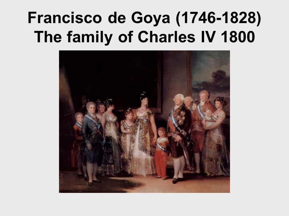 Francisco de Goya (1746-1828) The family of Charles IV 1800