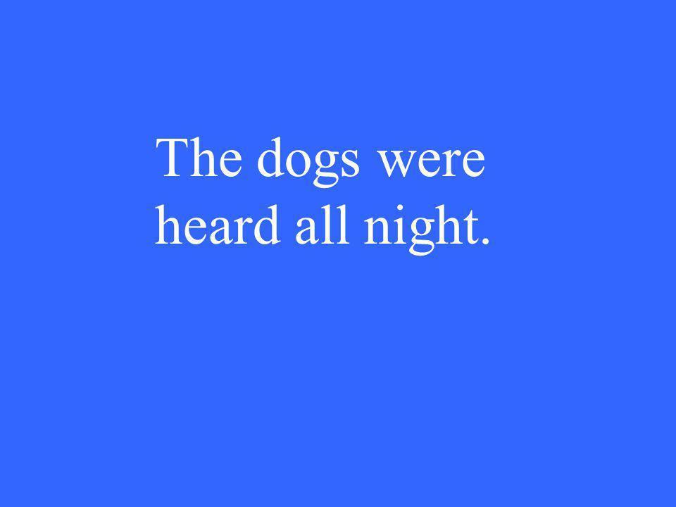 The dogs were heard all night.