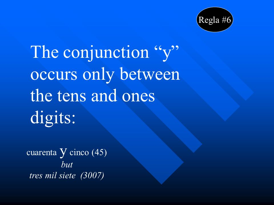 Regla #7 The numbers 200 to 900 end in –os if followed by a masculine noun, and in –as if followed by a feminine noun.