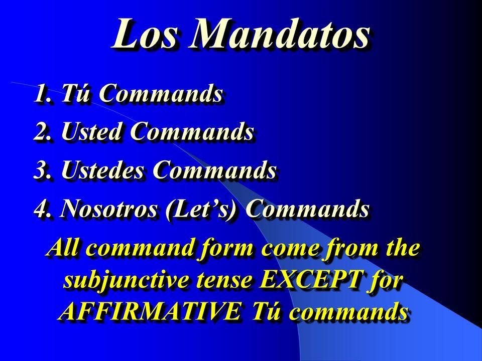Los Mandatos ¿Cómo y cuándo lo usamos?