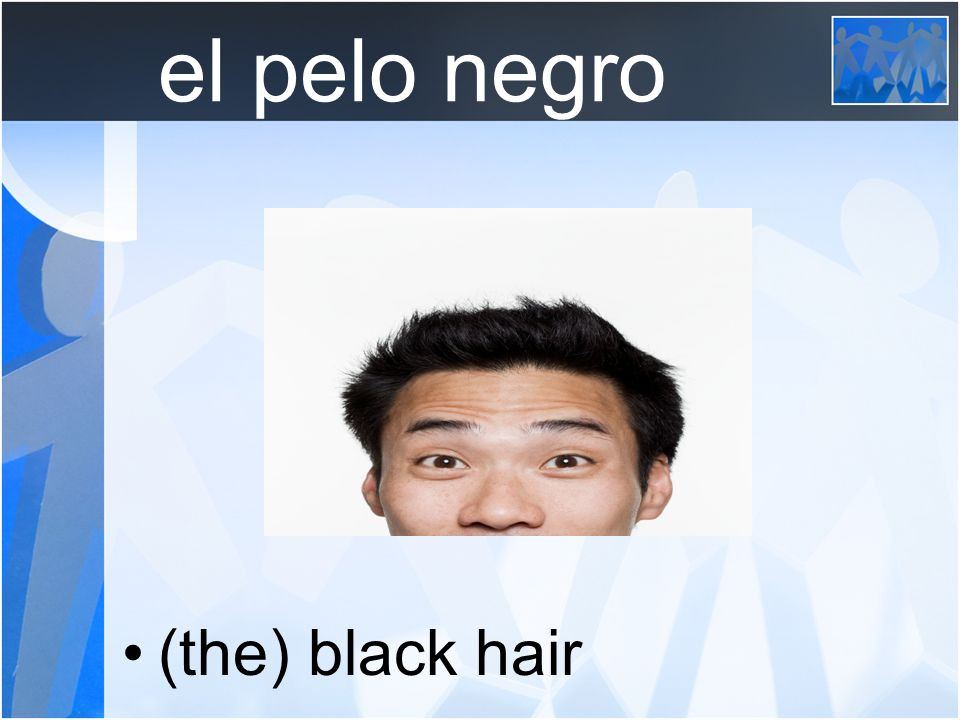 el pelo negro (the) black hair