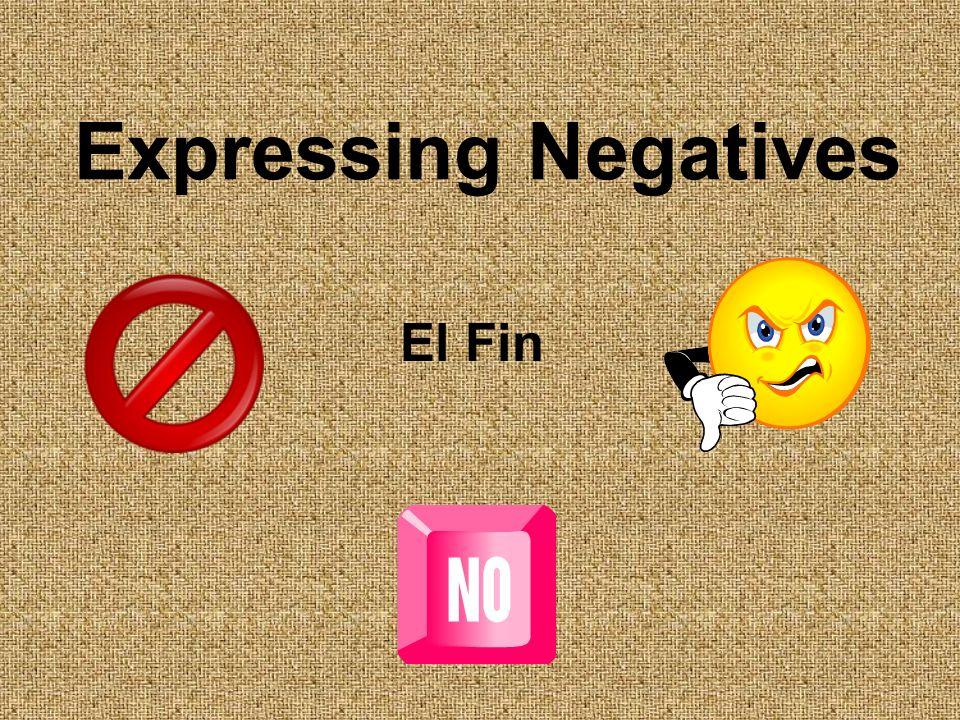 Expressing Negatives El Fin