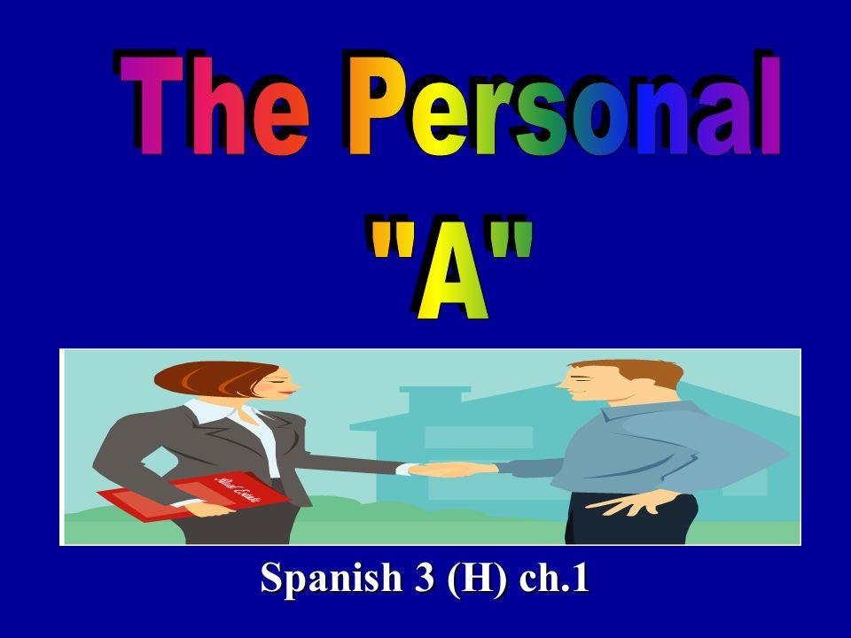 Spanish 3 (H) ch.1