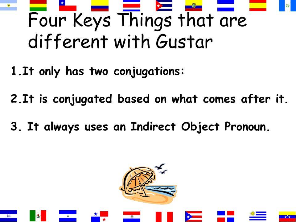 Gusta=singular nouns =infinitives Gustan=plural nouns =two or more singular nouns