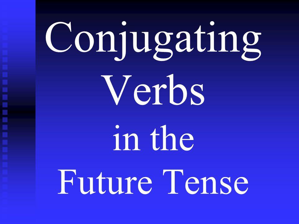Practice Conjugating Conjugate the following verbs in the future tense: cocinar (ellas) cocinarán