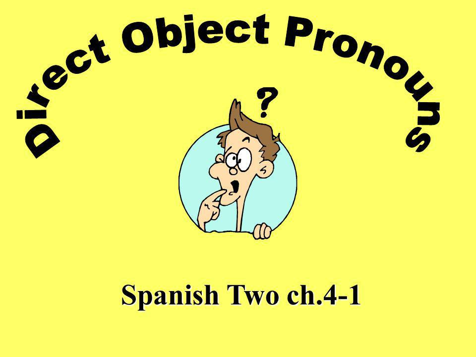 Spanish Two ch.4-1