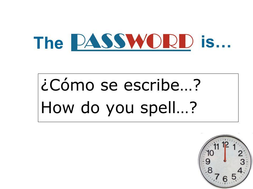 ¿Cómo se escribe…? How do you spell…? The is…