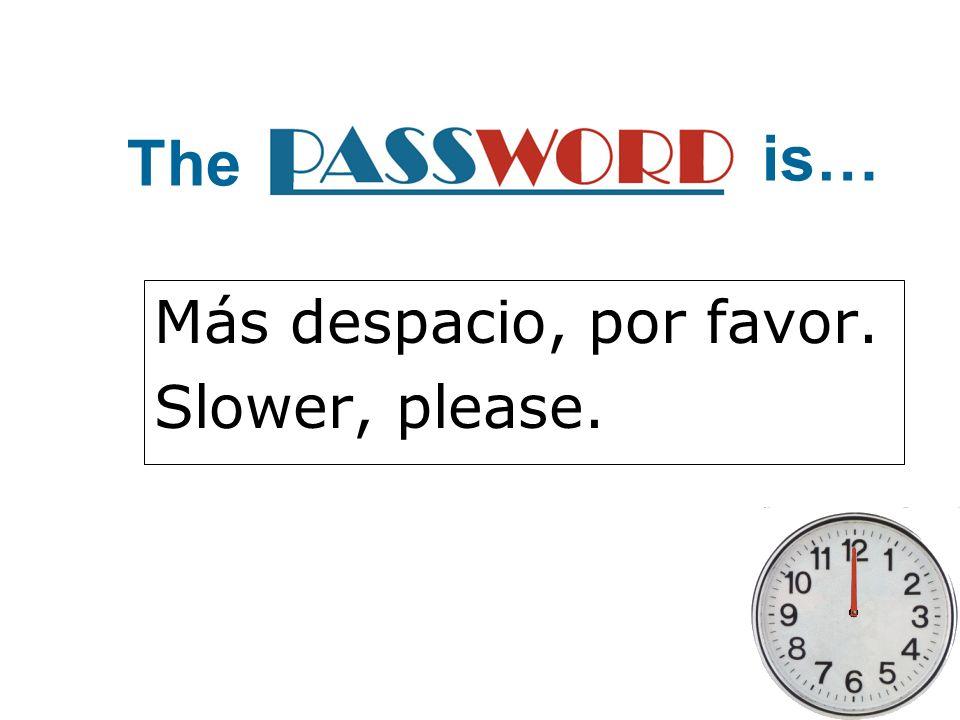 Más despacio, por favor. Slower, please. The is…