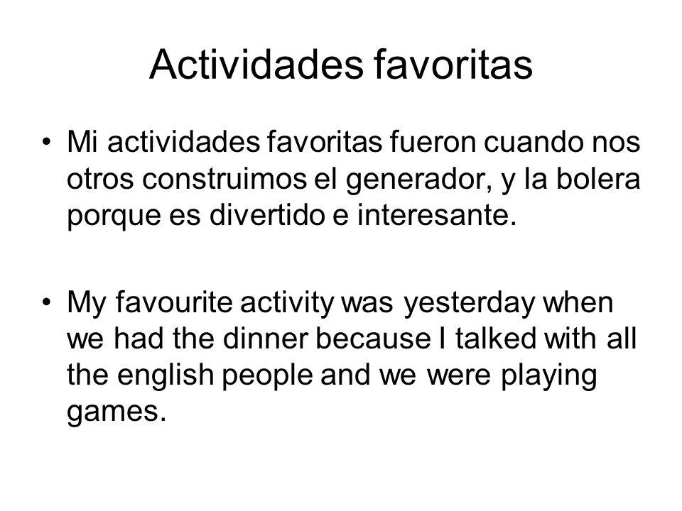 What you have learned he aprendido que las personas espanolas son diferentes de lo que pensaba y mejor.