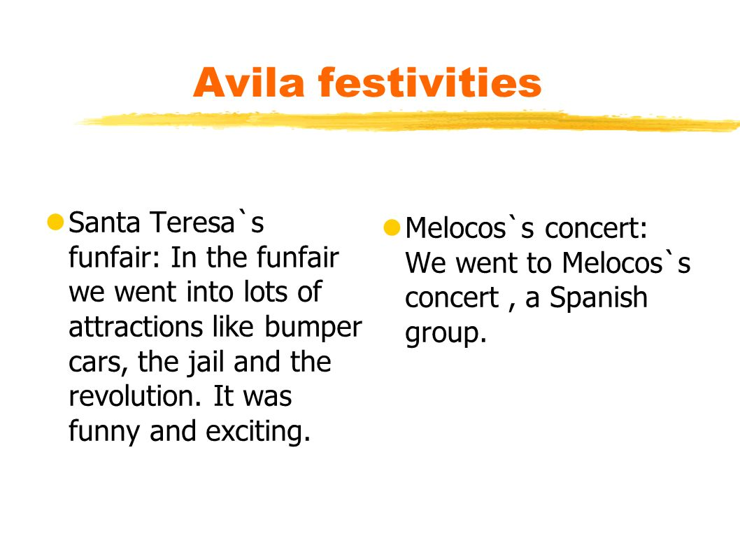 Santa Teresa`s funfair: In the funfair we went into lots of attractions like bumper cars, the jail and the revolution.