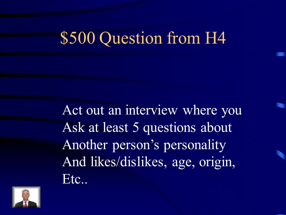 $400 Answer from H4 Your Text Here