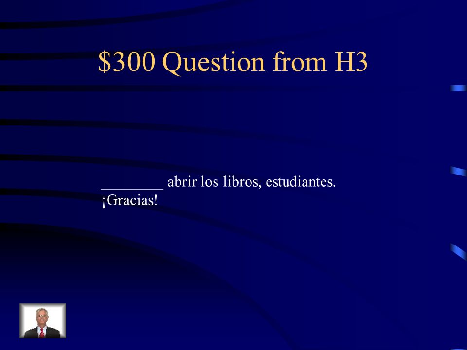 $200 Answer from H3 te toca