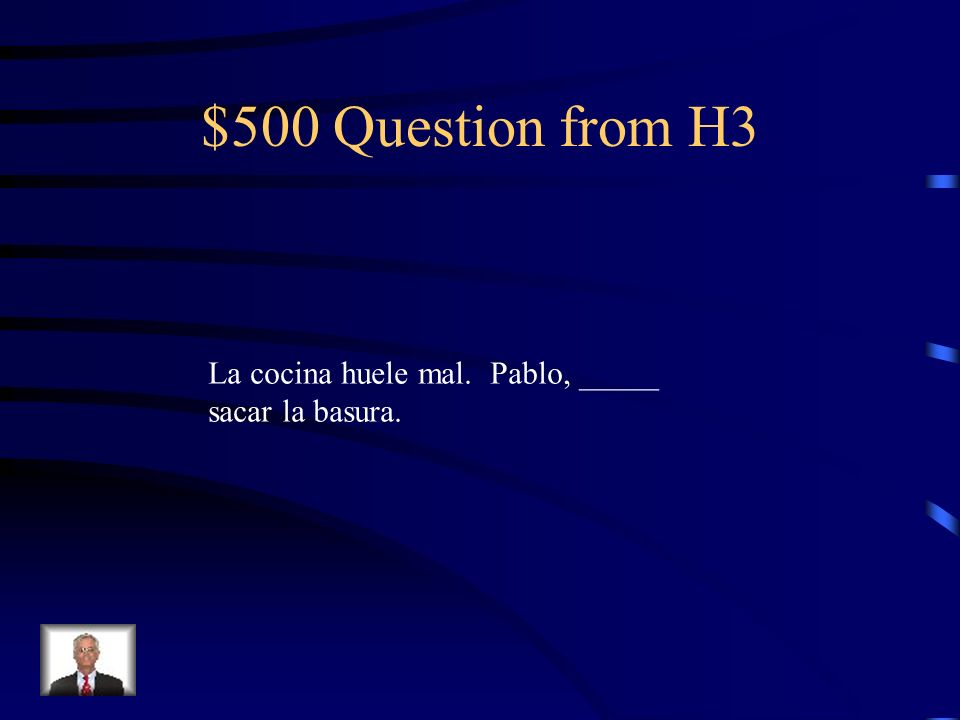 $400 Answer from H3 tengo que