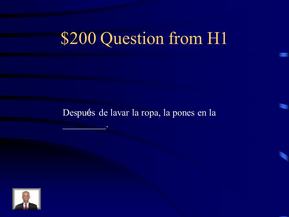 $100 Answer from H1 En el fregadero