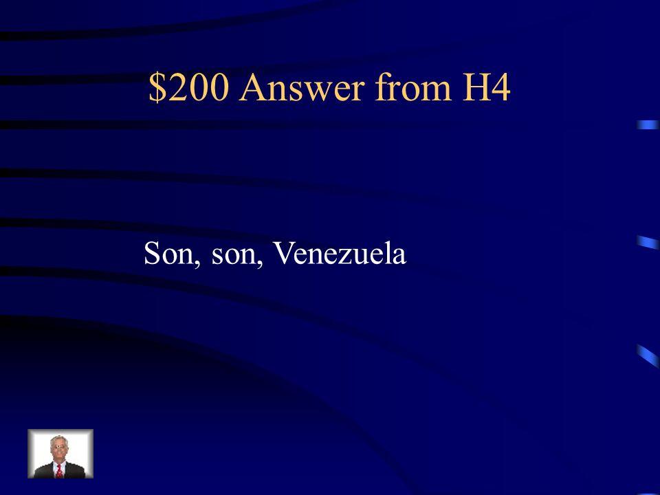 $200 Question from H4 Luis y Rafael ___ venezolanos. ____ de __________.