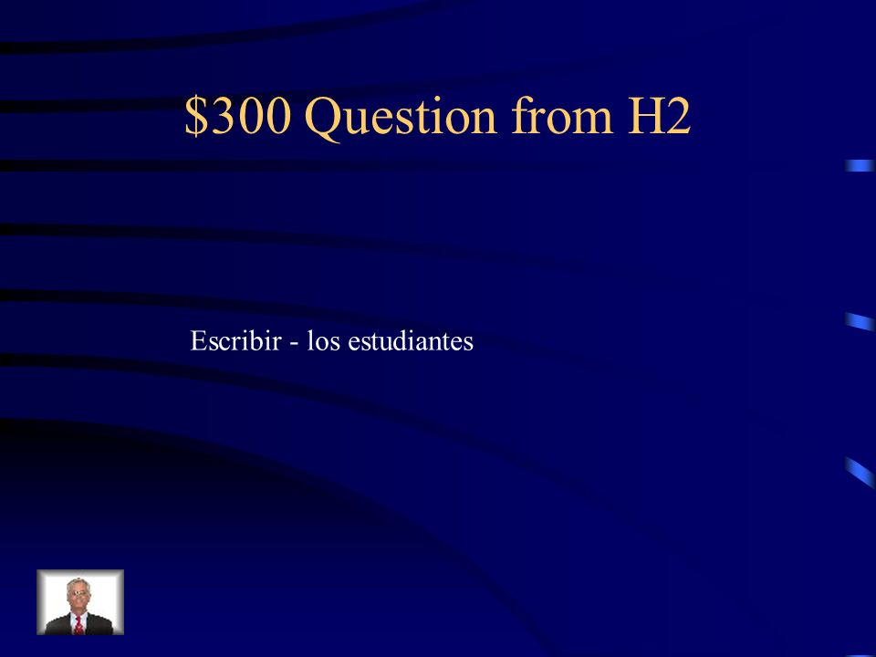 $200 Answer from H2 trep á bamos