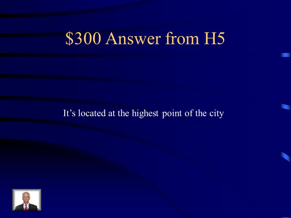 $300 Question from H5 What is significant about the location of Segovias cathedral